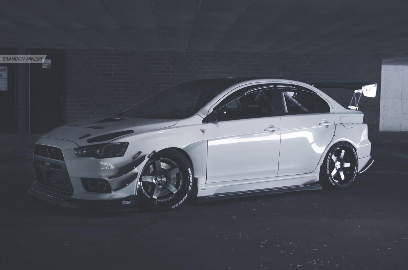 White Ninja Mitsubishi Lancer Evolution X Ultime
