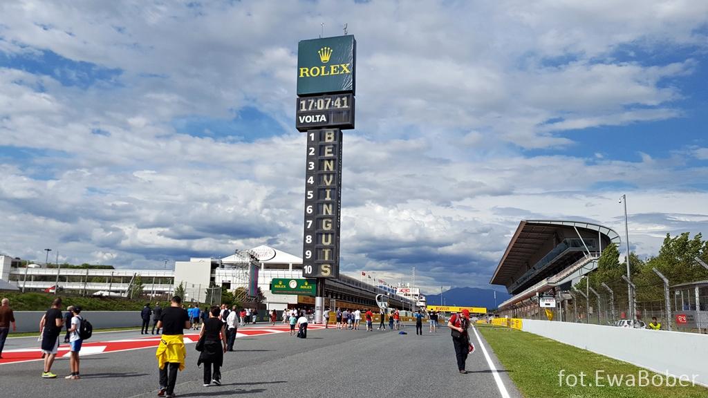 Prosta startowa toru w Barcelonie