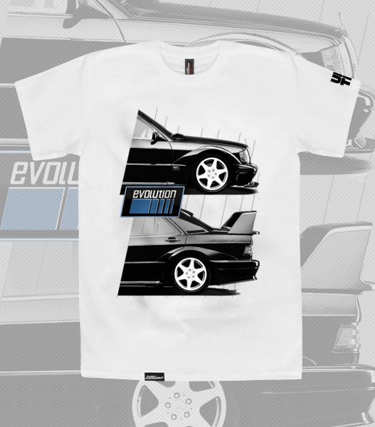 koszulka mercedes evolution - t-shirt Mercedes Benz 190 E 2.5 16v evo II