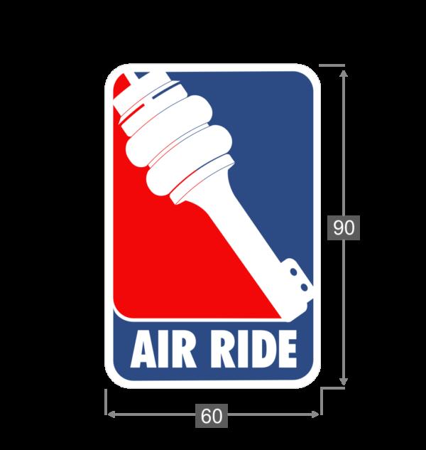 Naklejka Air Ride Wymiary
