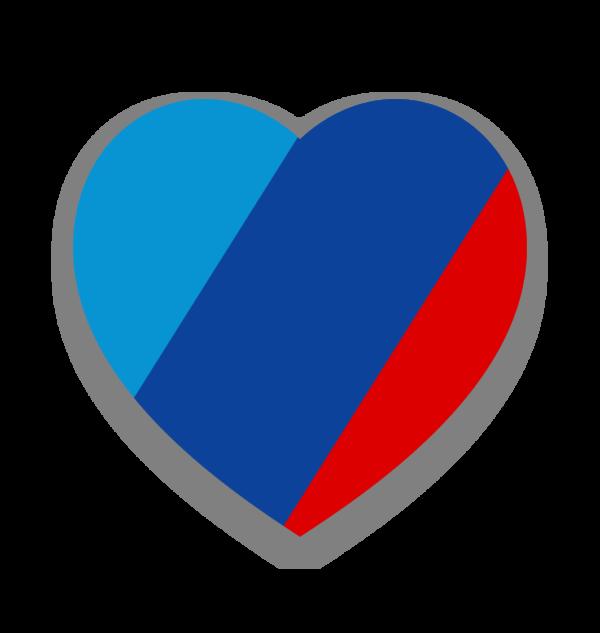 Naklejka M Love