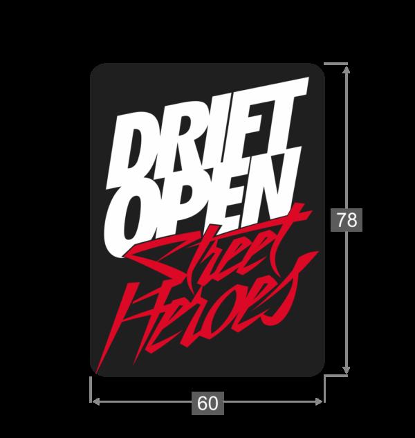 Naklejka Drift Open Street Heroes Wymiary