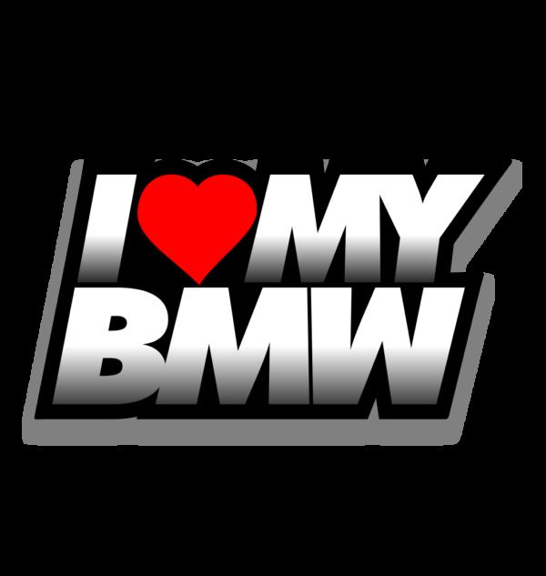 Naklejka I Love My BMW