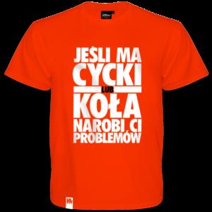 Koszulka Cycki koła problemy