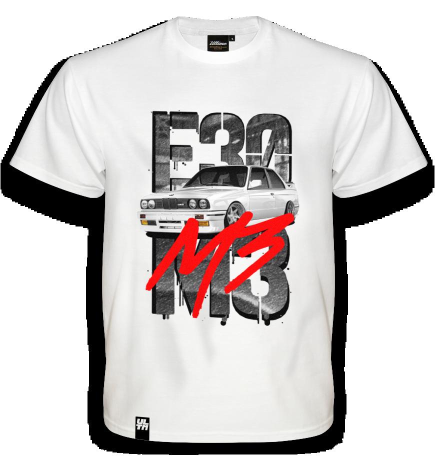 Koszulka BMW E30 M3 WHITE